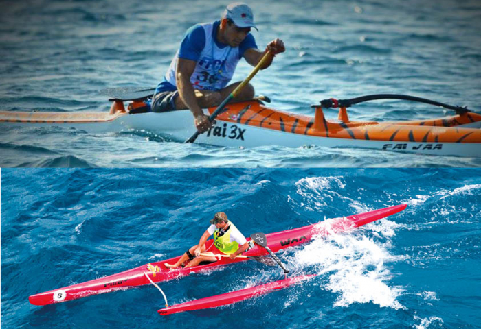 Va'a and outrigger canoe 2 models, many differences
