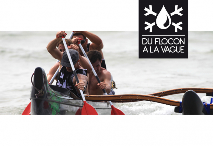 du flocon à la vague et Woo outrigger, oc1 pirogue va'a environnement eco-responsable