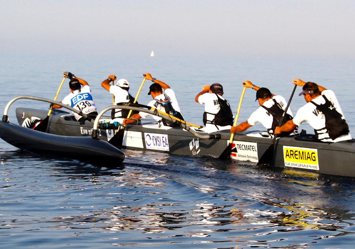 RaceV6 Va'a Wa'a Outrigger Canoe Ordre Tare seats